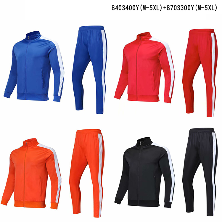 OEM Sportswear Jogger Suits Mens Plain Blank Jogging Tracksuits