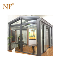 Winter aluminium frame glass house garden house for agriculture