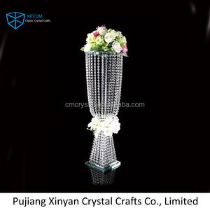 Shining crystal tall wedding decoration flower stand
