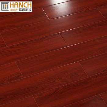 E1 Ac3 Hdf High Gloss Laminate Flooring Dark Brown Composite Floor