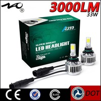 Car accessories 2 side 9006 9007 car led rope light car headbulb