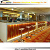 STBC-337 fabulous tranlucent led lighting solid surface/artificial marble modern stone building a bar counter