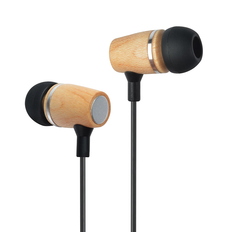 3.5mm stereo earphone,wood earphones bamboo earphones with high quality and cheap price