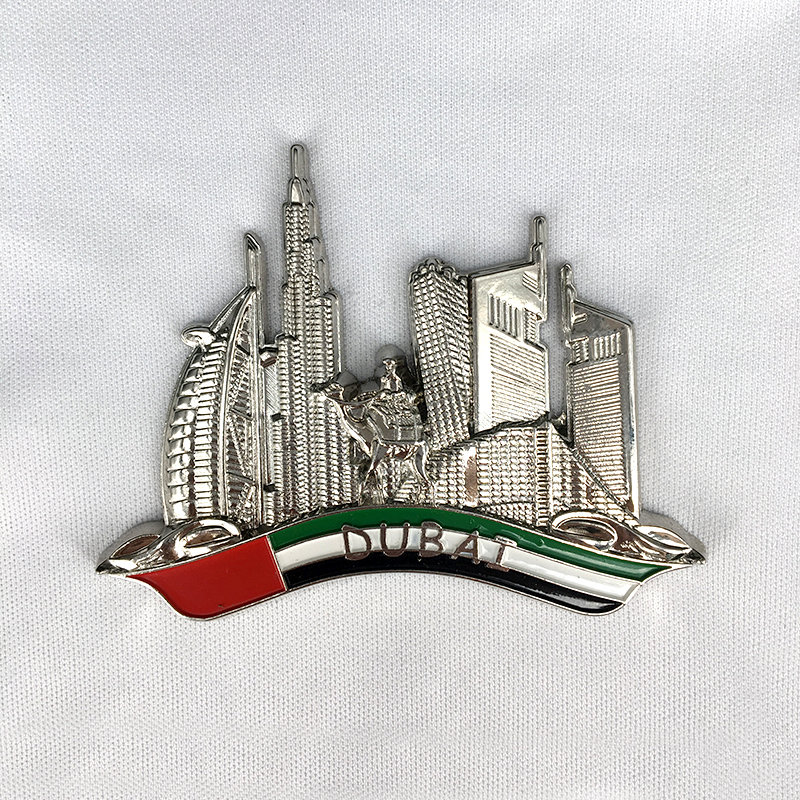 Factory direct sale custom 3d metal dubai lapel pin badges