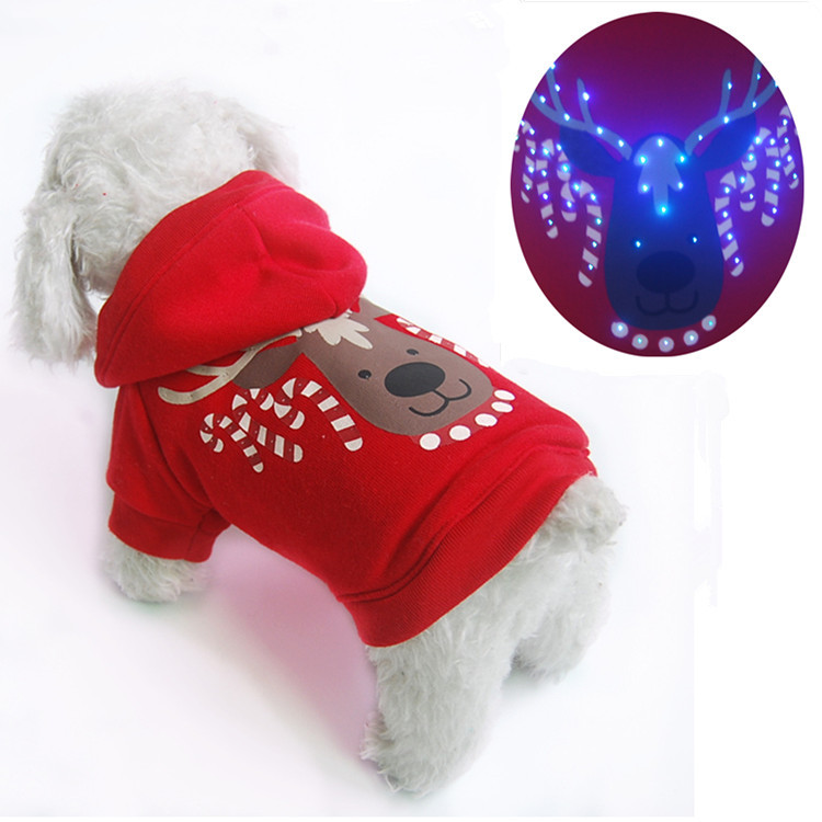 Led Light Clothes Pet Clothes Dog Sweater Pet Christmas Dog ...