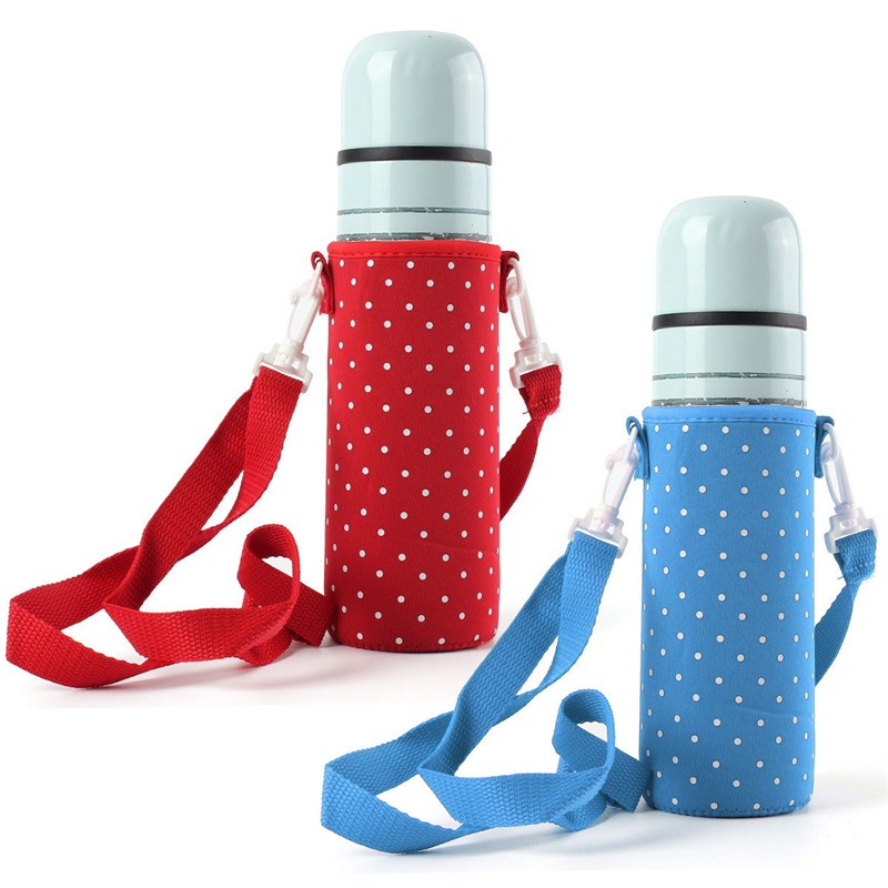 Colorful Water Bottle Carrier Bag Insulated Cover Holder Strap Pouch Outdoor Hot