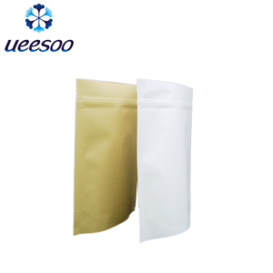 China Supplier Design Custom Stocked Luxury Gift Stand Up Biodegradable Craft Reuse PLA Customize Kraft Zip Paper Bag