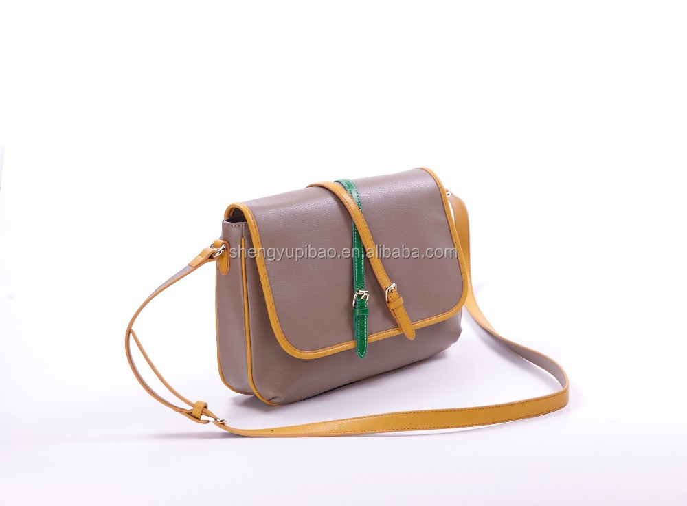 Newest design top quality women leather messenger bag