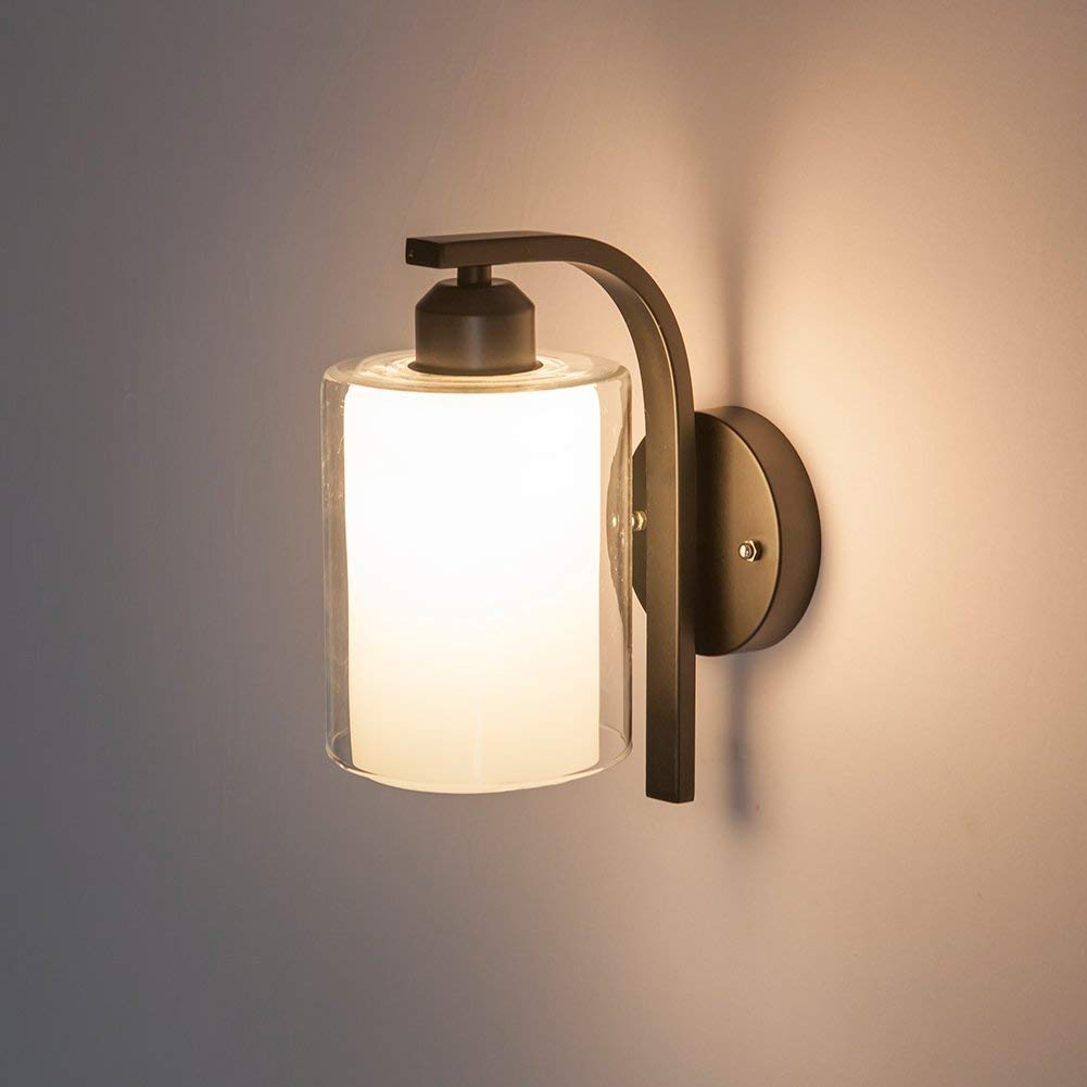 Get quotations · wall lamp vintage wall sconces e27 wall mounted bedside lamps retro lamp indoor lighting wall light