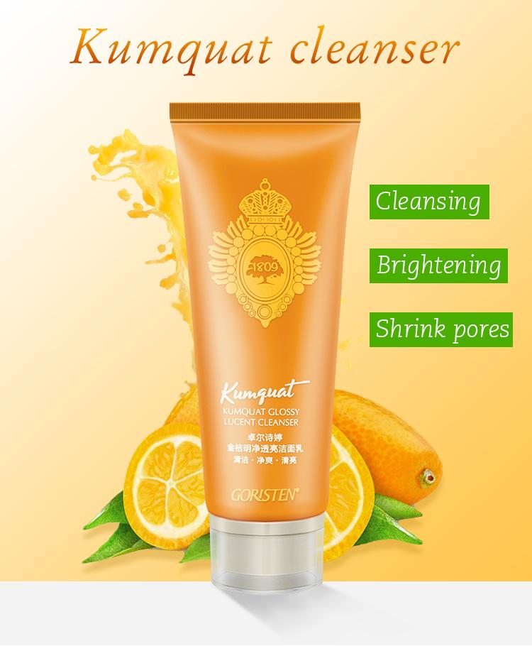 Face use deep cleansing shrink pores kumquat cleanser vitamin c