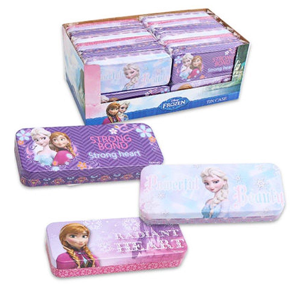 Set of 3 Pieces Disney Frozen Elsa & Anna Tin Pencil Cases Pencil Boxes