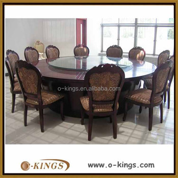 10 People Restaurant Furniture Round Dining Table With Glass Turn Table    Buy 10 People Restaurant Turn Table Furniture,Round Dining Turn  Table,Dining ...