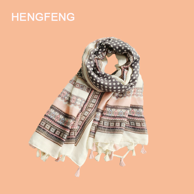 Wholesale 2017 spring summer 100% cotton fashional beach scarf for women