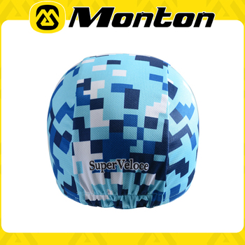 Art inspiration fashion design colorful cycling/biking Prevent bask in cycling caps with heat-transfer printing of 2015 Monotn