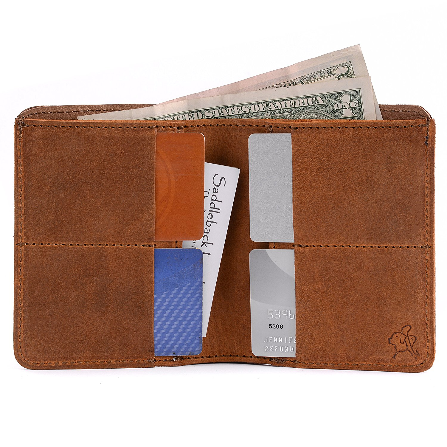 e503b77149657 Get Quotations · Saddleback Leather Large Bifold Wallet - RFID-Shielded 100%  Full Grain Big Leather Wallet