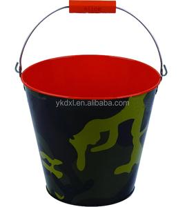 Large round painting metal beer ice bucket