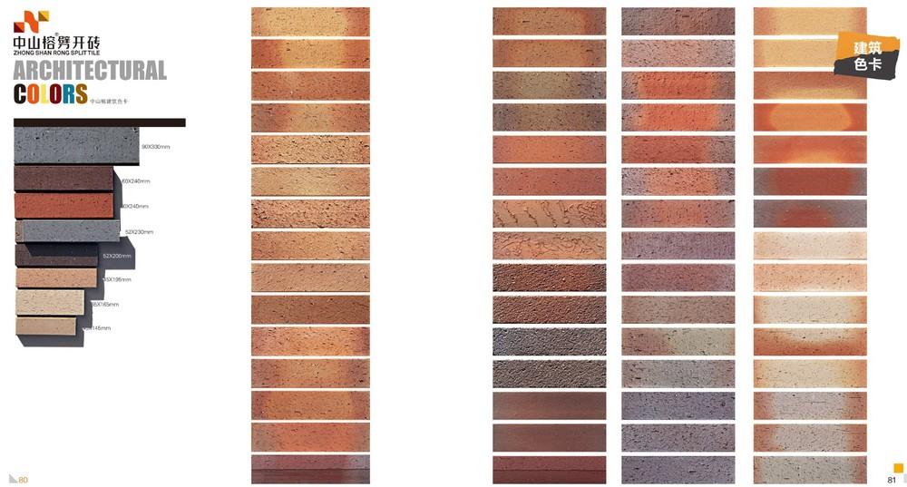 Latest Facade Clinker Wall Tiles Terracotta Klinker Brick