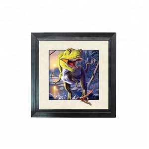 5D lenticular Dinosaur picture for home decoration with frame in stock