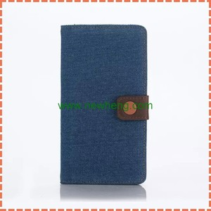 Wholesale Cowboy Jeans Flip Leather Case For sony z5 compact