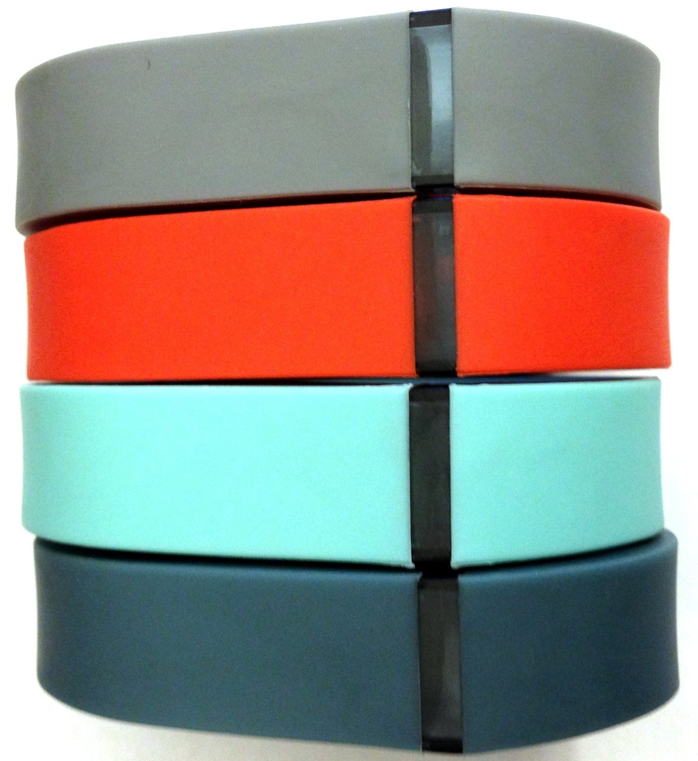 Set 4 Colors Small S 1pc Grey 1pc Teal (Blue/Green) 1pc Slate (Blue/Grey) 1pc Red (Tangerine) Replacement Bands With Clasp for Fitbit FLEX Only /No tracker/ Wireless Activity Bracelet Sport Wristband Fit Bit Flex Bracelet Sport Arm Band Armband