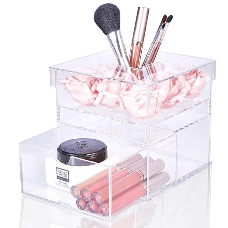 Chất Lượng Cao Thấp Moq Rõ Ràng Acrylic Quà Tặng Trong SuốT Hoa Bảo Quản Tăng Trong Hộp Acrylic