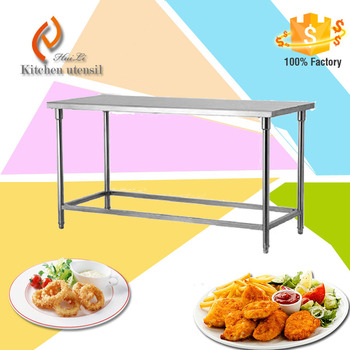 Stainless Steel Dining Table Poland Hot Sale Stainless Steel Working Table  With Under Shelf For Hotel School Kitchen - Buy Steel Work Table With 3
