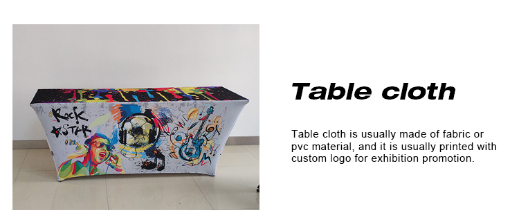 Promotional 6ft and 8ft  rectangle stretch table cover fitted table cloth