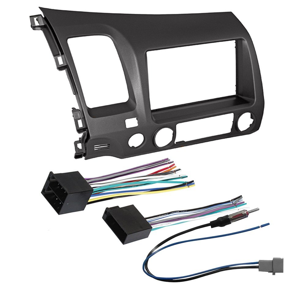 CAR STEREO RADIO DASH INSTALLATION MOUNTING KIT+ WIRING HARNESS + RADIO ANTENNA ADAPTER FOR SELECT HONDA CIVIC VEHICLES