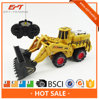 Kids car 4channels radio control toy rc construction truck