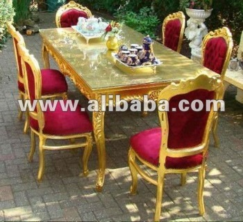 Royal Gold Neo Rococo Luxury Fabulous Modern Baroque Dining Living Room Sets  Antique Furniture Reproductions Egypt Part 67
