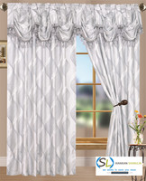 New design and new patterns for elegant jacquard curtains with attached valances