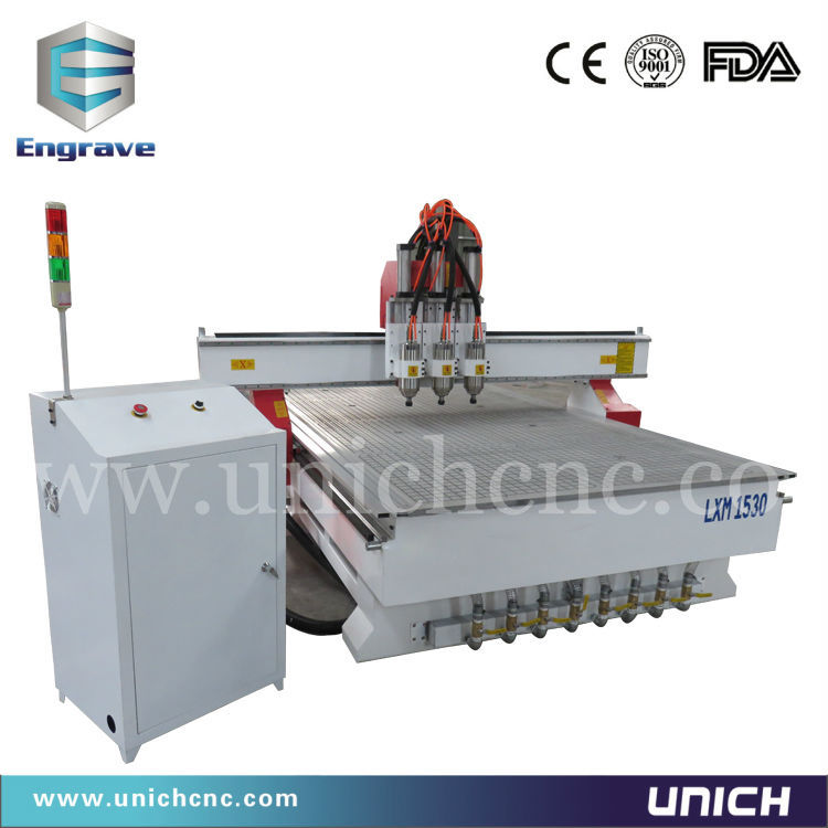 1530 Three spindle cnc machine/time saving cnc for wood processing