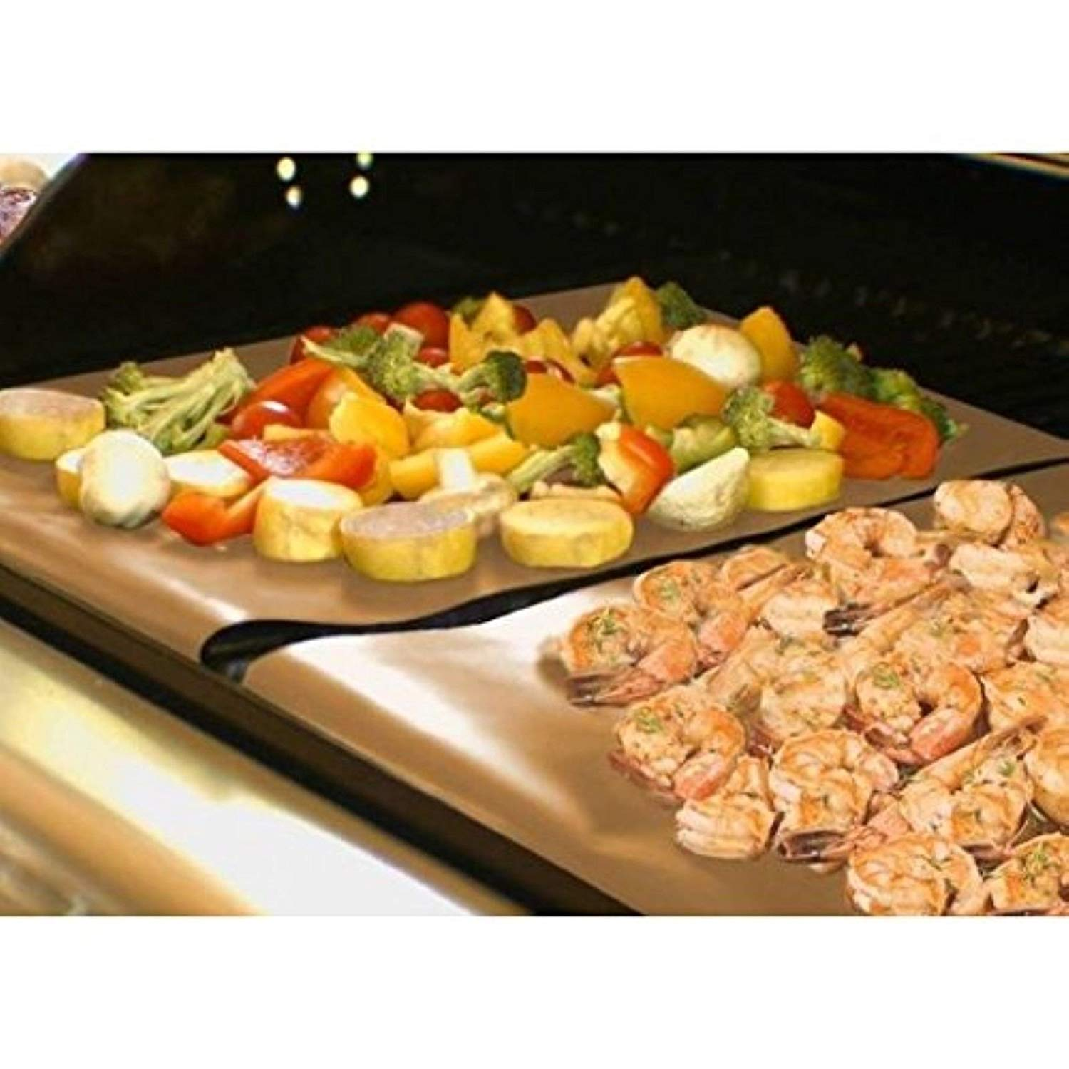 [WALLER PAA] 2 Grill And Bake Mat BBQ Grilling Reusable Non-Stick