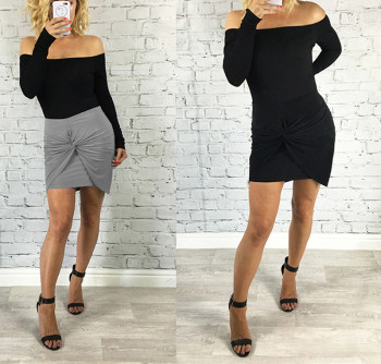 B32879a 2017 New Design Hot Office Lady Bodycon Elegant Short Skirt