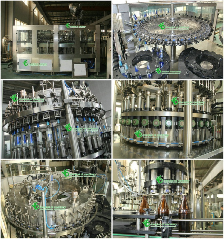 beer washing filling capping and labeling machine with high quality