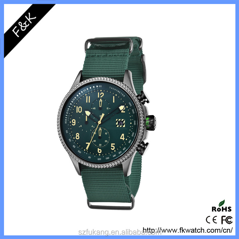 Top Most Army Style Mens Wrist Watch Quartz Military Date Watch