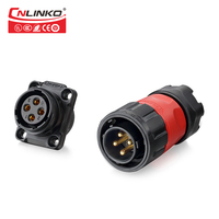 4 PIN Russian Connector Cable, 12v Waterproof Connectors IP67