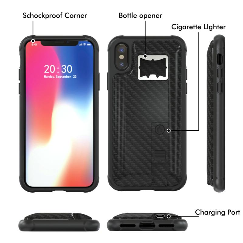 A006 2018 Unique Design For iphone 6 6s 7/8 plus XR XS MAX Shockproof Lighter Bottle Opener Phone Case