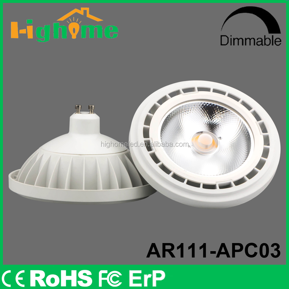 Factory price high quality low power consumption GU10 AR111 led bulb
