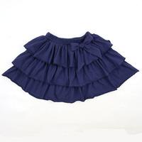High Quality Baby Girls Mini Skirt ruffle Denim Skirt New Year Three layer falbala Design Girls Fashion Skirt