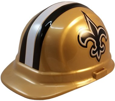 c0cae5ffb53 Get Quotations · NFL New Orleans Saints Hard Hats with Ratchet Suspension