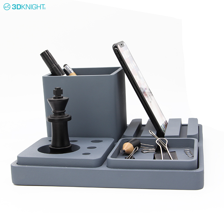 Fashion Cement Design Pen Set Concrete Pencil Holder Desk Phone Holder