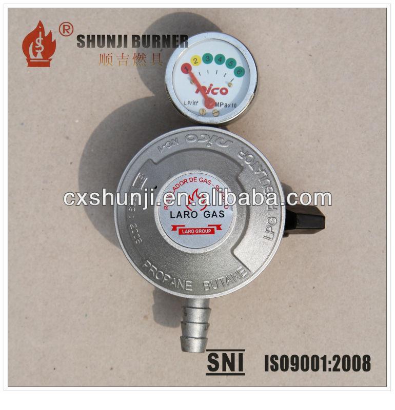 regolatore della bombola del gas regolatore gas gpl da cucina con manometro