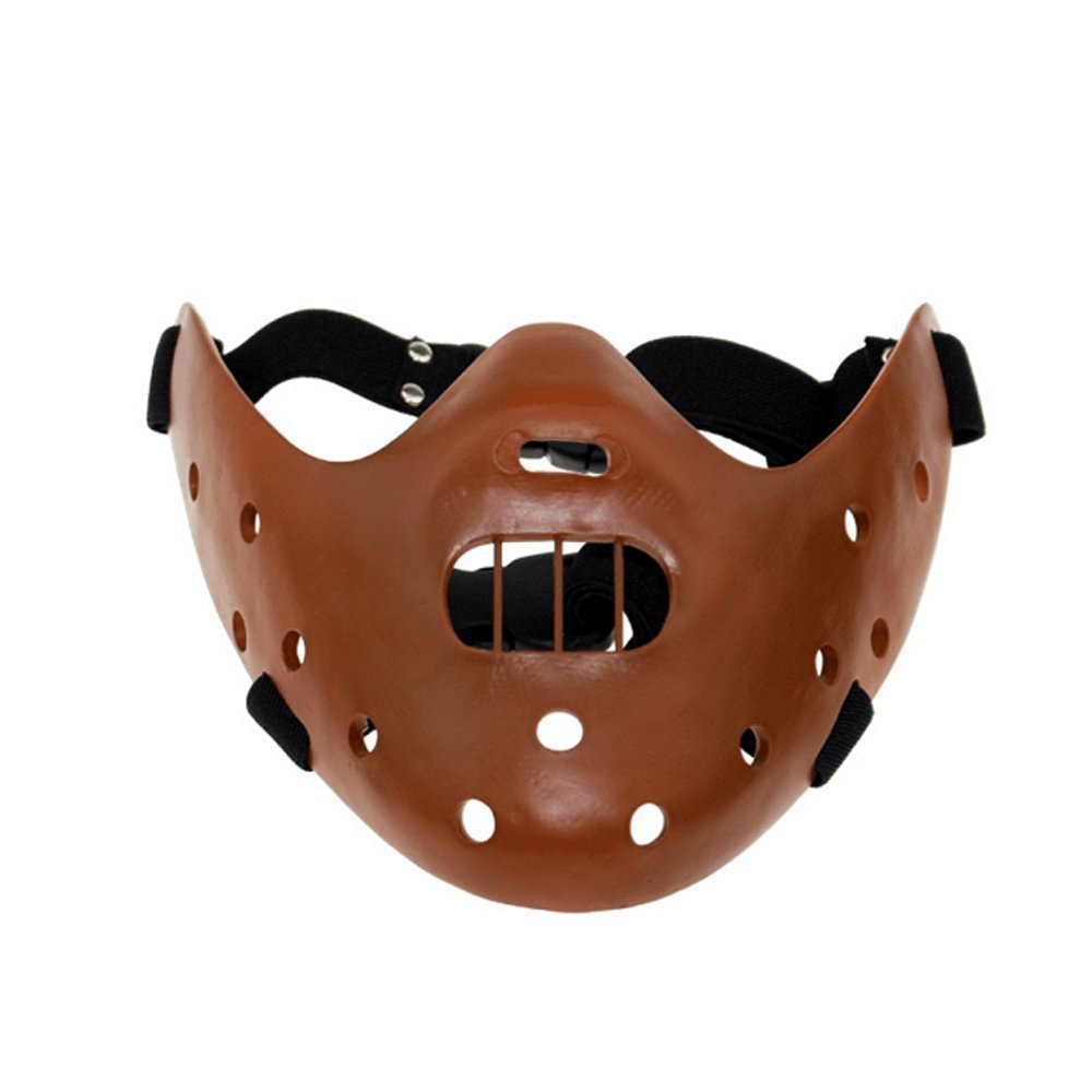 LUCKSTAR(TM) Resin Halloween Terror Hannibal Face Mask Cospaly Masquerade Prop Children Gift for Cospaly Costume Party Theater Prop Themed Bar Decoration (Coffee)