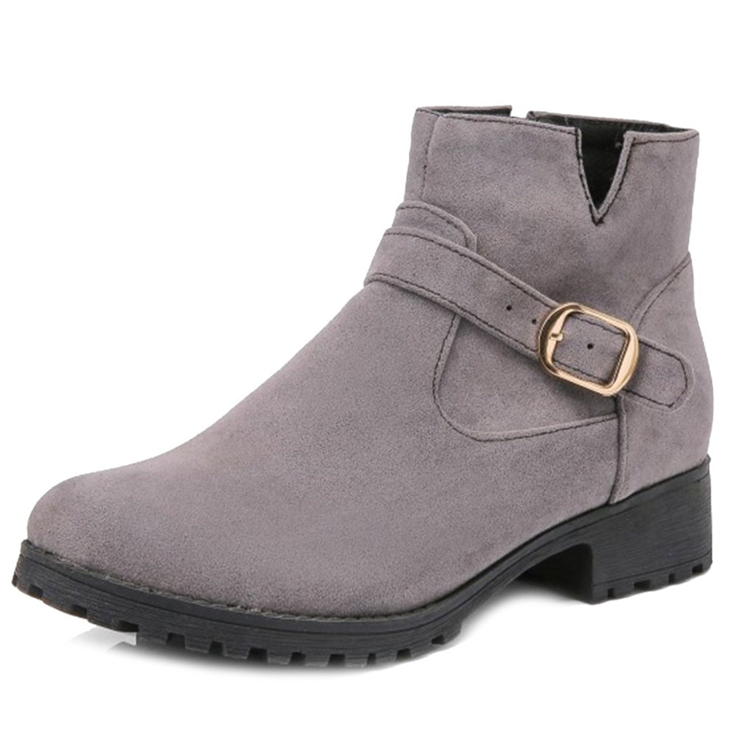 5048ddf4428 Get Quotations · SJJH Women Ankle Boots with Flat and Nubuck Materail Nice Large  Size Short Boots