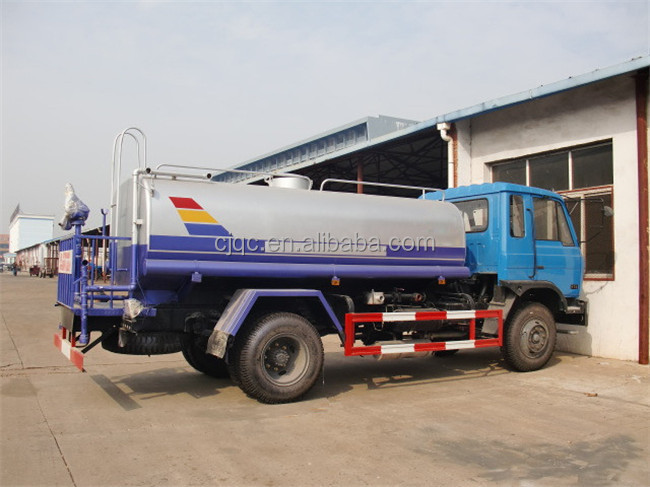 Dongfeng EURO 3 EURO 4 water truck with 8000L water tank sprinkler truck capacity