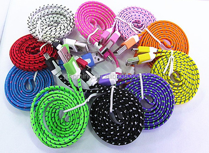 10ft Durable braided USB cable with AL foil shielding durable nylon braided jacket