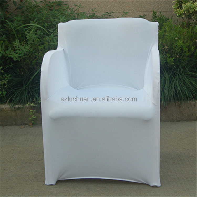 Factory Wholesale Universal White Lycra Arm Spandex Chair Cover