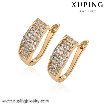 92968 Fashion Costume Jewelry Whole 18k Dubai Gold Diamond Earring