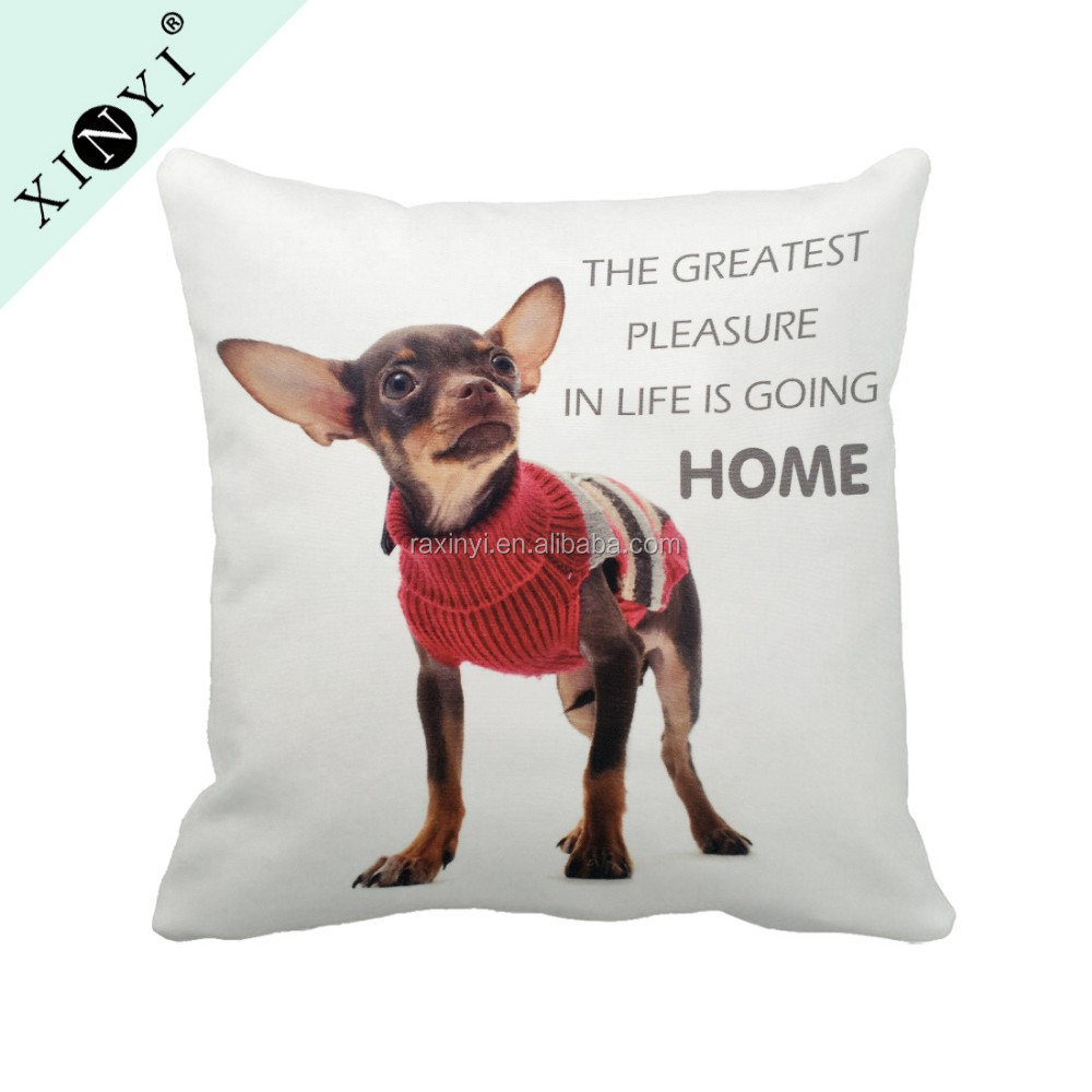 Digital printed wholesale custom sofa chair decorative pillow case / hot selling square pillow cases animal